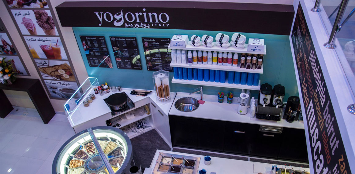 yogorino –  сеть ресторанов замороженного йогурта и итальнского мороженого
